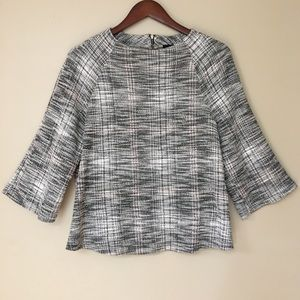 Anthropologie W5 knit tweed sweater top size large